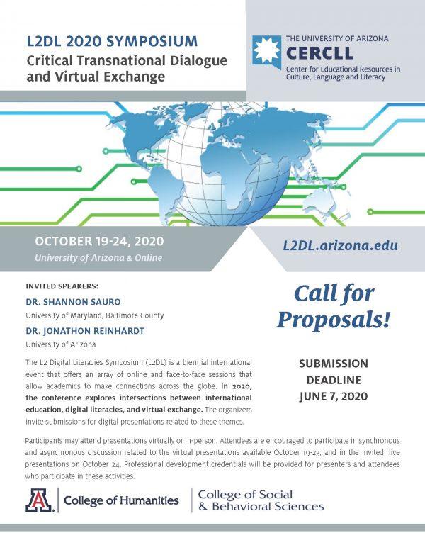 CFP L2DL: Critical Transnational Dialogue & Virtual Exchange