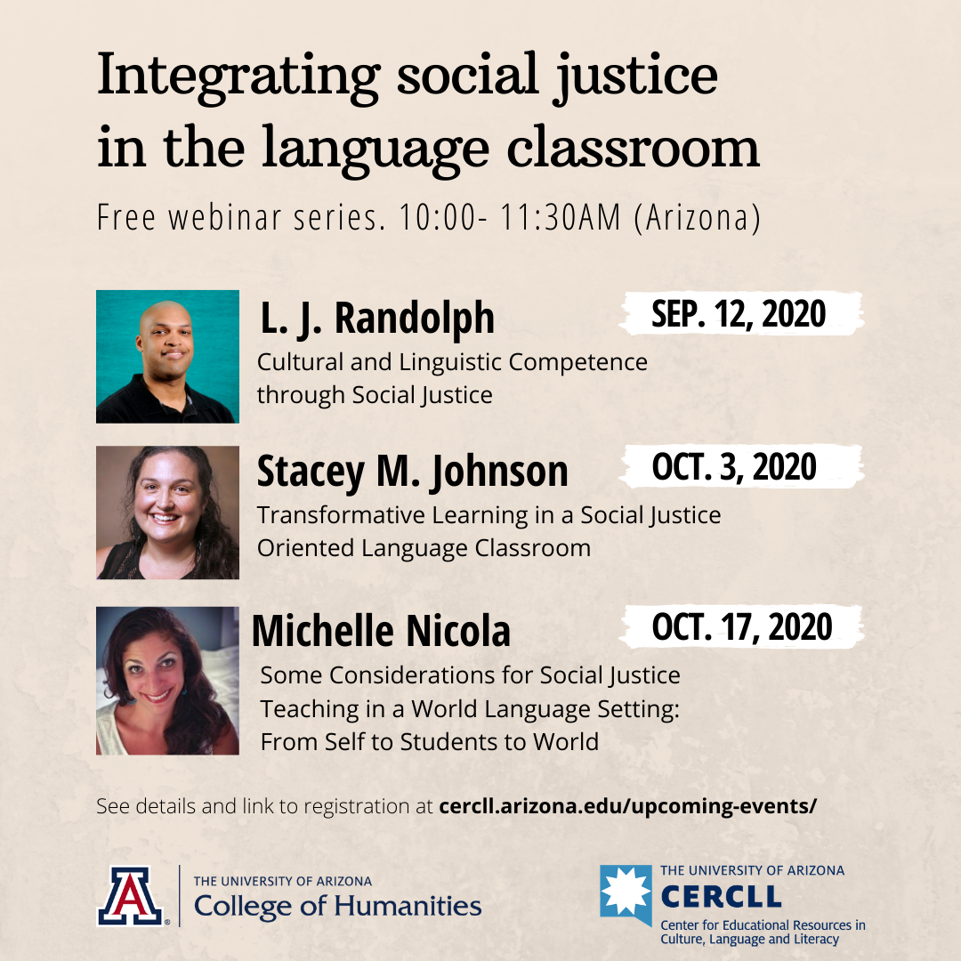 Three-Part Webinar Series on Social Justice
