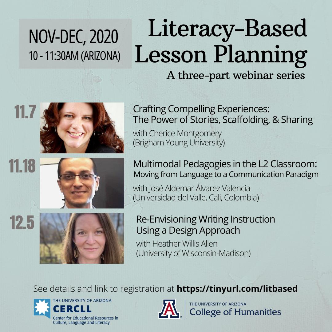 Three-Part Webinar Series on Literacy-Based Lesson Planning